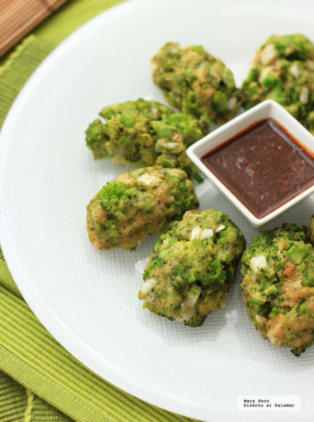 Croquetas horneadas de brócoli. Receta
