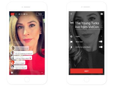 YouTube se decide y lleva su streaming en directo a los móviles para competir con Periscope