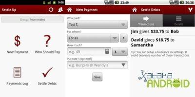 Settle up, la mejor forma de gestionar pagos en grupos
