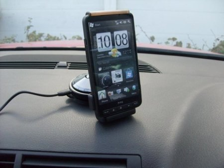 HTC Car Kit CU S400 oficial para HTC HD2, soporte para automóvil actualizado