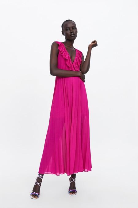 Vestido Fucsia Zara 08
