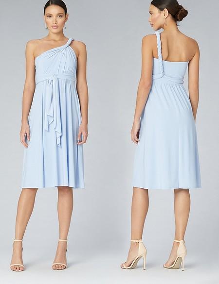 Vestido Corto Azul Cielo
