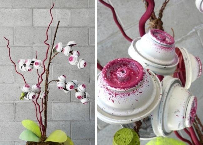 orquideas recicladas