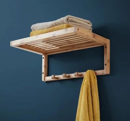 Toallero de pared de bambú