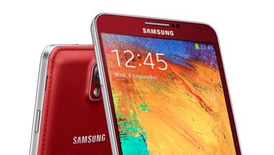 Nuevos colores para el Samsung Note 3, ahora en rojo y en blanco con marco rosa.