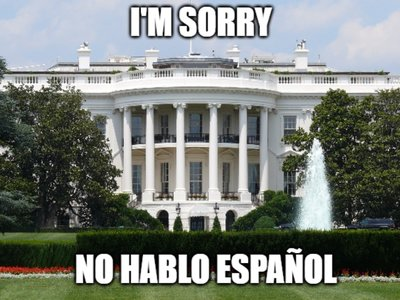 La Casa Blanca retira el español de su web. Si miramos lo que pasa en otros países, es lo normal