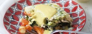 Terrina de verduras con crema inglesa de curry. Receta para sorprender