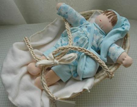 Muñeca de algodón orgánico
