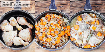 Pollo Champinones Zanahorias Receta