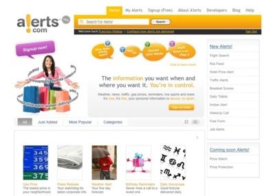 Alerts.com, alertas por correo y por sms