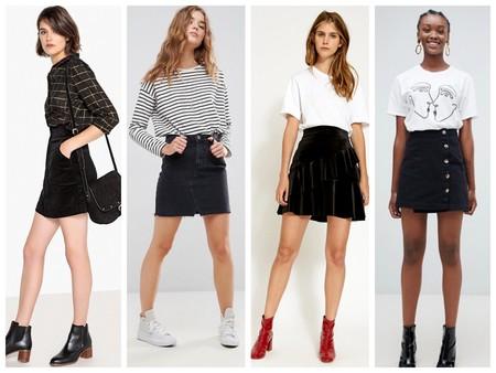 Minifaldas En Negro