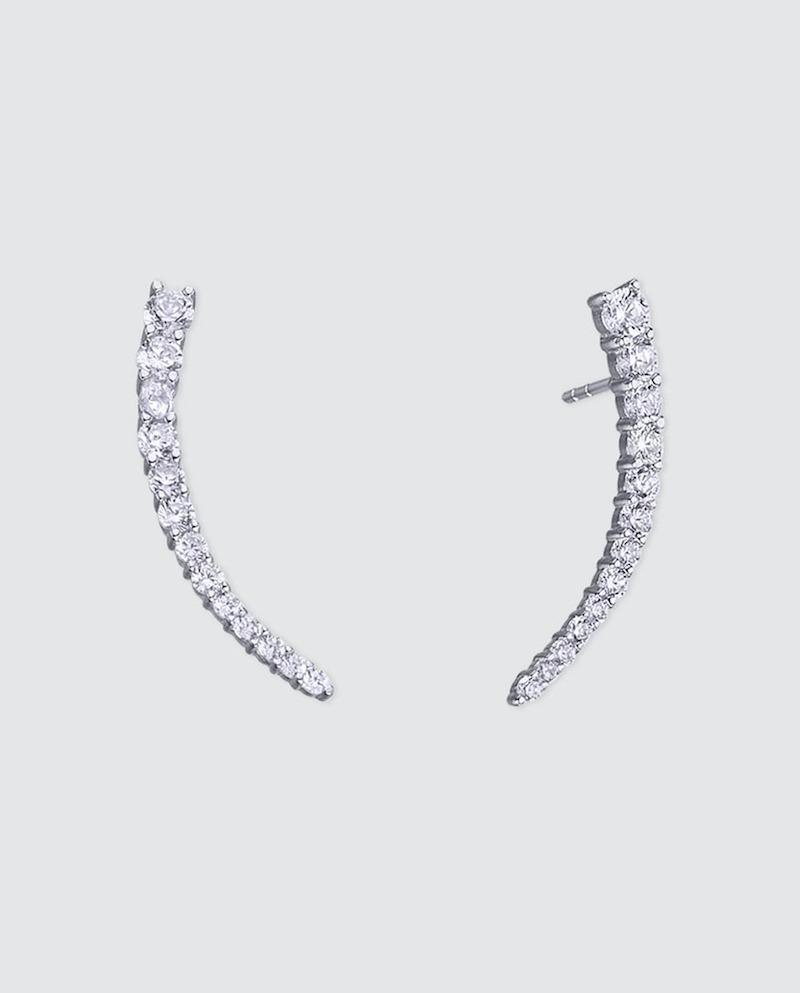 Pendientes Vidal & Vidal Signature de plata con circonitas