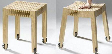 Asientos de madera flexible