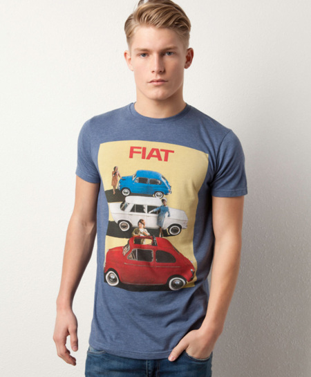 Camiseta Pull and Bear tres coches fiat