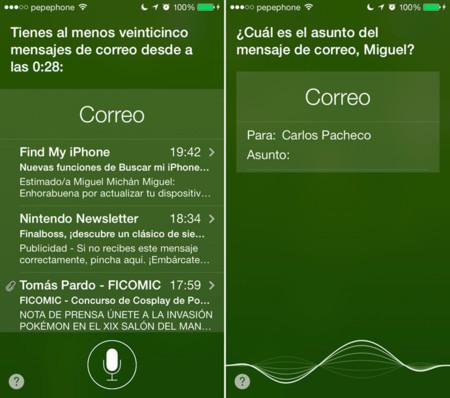 Correos electrónicos en Siri para iOS 7