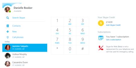 Skype para la Web ahora te permite llamar a teléfonos fijos y móviles