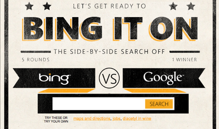 Bing it on, la nueva campaña de Microsoft en contra de Google