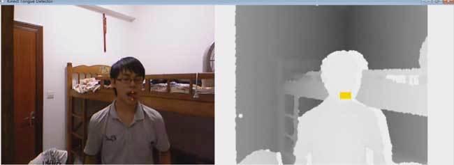 Kinect tongue detector