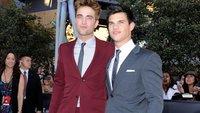 Taylor Lautner y Robert Pattinson, los protagonistas de Crepúsculo, vestidos de Gucci