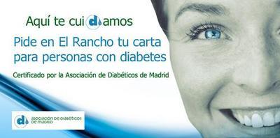Carta con indicaciones para diabéticos en el restaurante Rancho Argentino