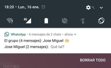 Las notificaciones de WhatsApp ya funcionan correctamente en Android Nougat