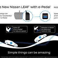 Con el nuevo Nissan LEAF vas a pisar muy poco el pedal del freno