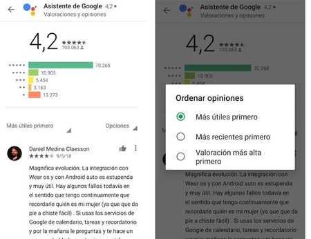 Google Play estrellas clasificación apps
