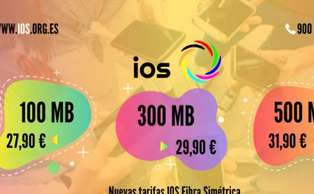 IOS rebaja 7 euros mensuales sus tarifas de fibra y hasta 4 euros los combinados con móvil