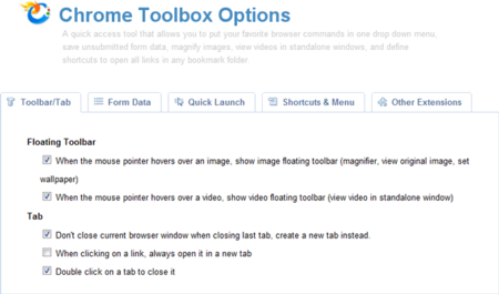 Chrome Toolbox, la superextensión de Google para Chrome