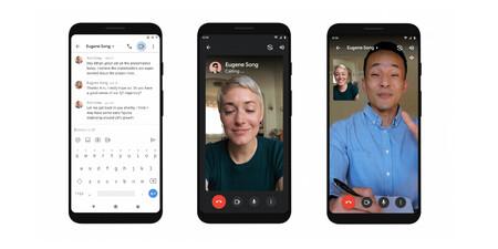 Gmail para Android permitirá hacer llamadas y videollamadas al instante sin salir de la app