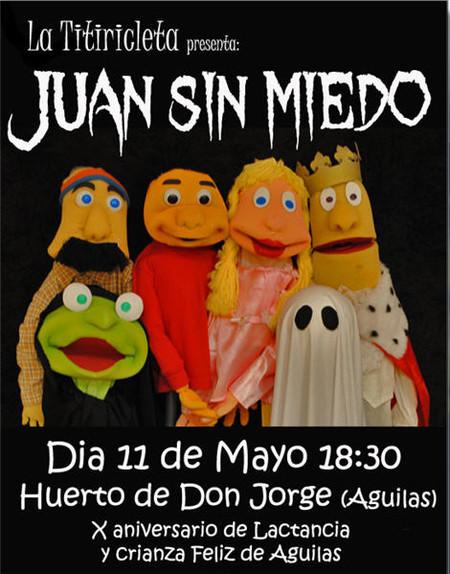 Las marionetas de 'Juan sin Miedo' en el X aniversario del grupo Lactancia y Crianza Feliz (Águilas / Murcia)