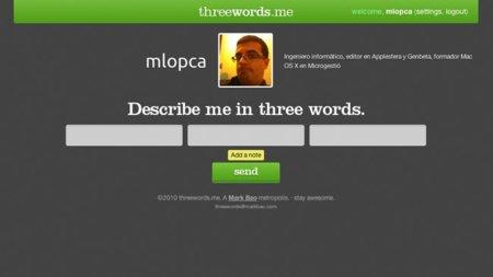 Threewords.me, terapia social en tres simples palabras