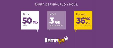 llamaya estrena su primer combinado barato de fibra y móvil por 36,90 euros