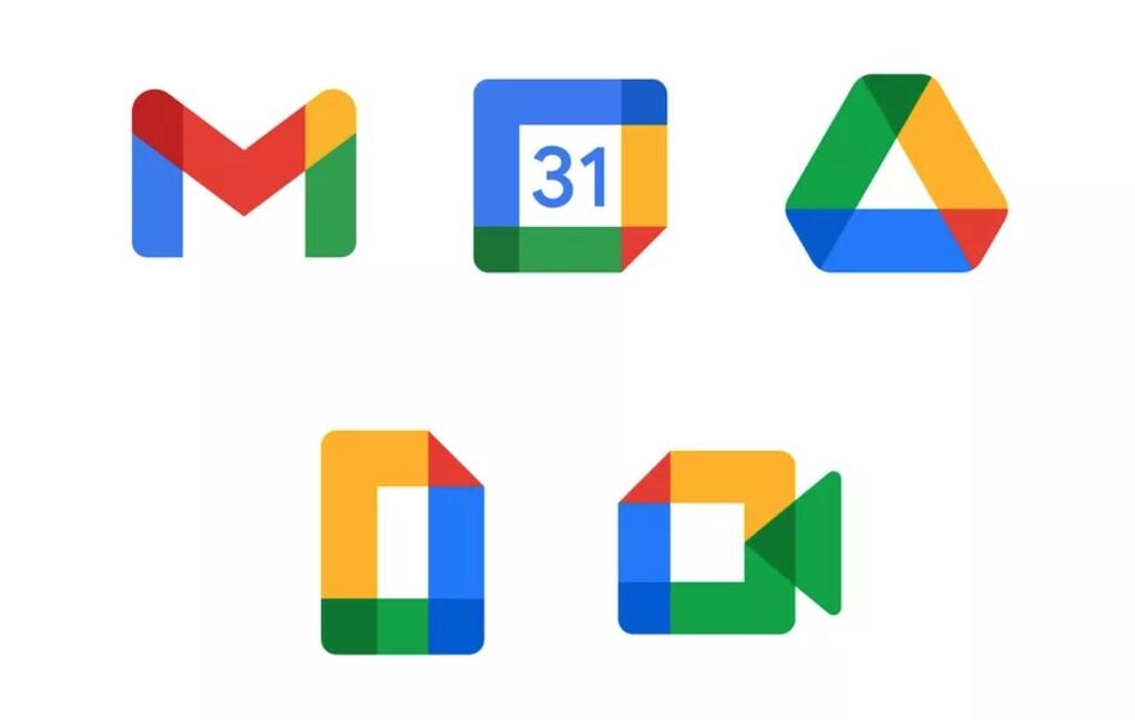 Así son los nuevos iconos de Gmail, Calendar, Drive, Docs y Meet