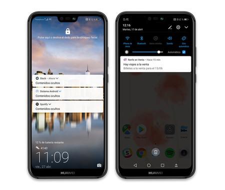 Huawei P20 Lite Apps Notificaciones