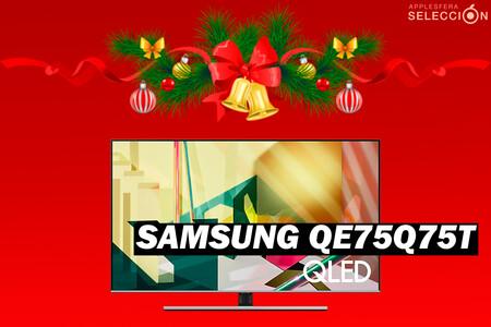 """Pantallón para el salón con rebajón: la Samsung QLED 2020 QE75Q75T de 75"""" en Amazon a 1.299,99 euros, su mínimo"""