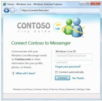 Messenger Connect, integración de Windows Live Messenger en Internet