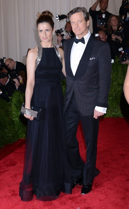Colin Firth and wife producer Livia Giuggioli