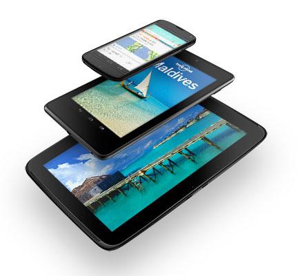 Nexus 4, Nexus 7 y Nexus 10