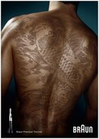 Braun Hair Tattoo, una campaña publicitaria de cortadores de pelo muy original