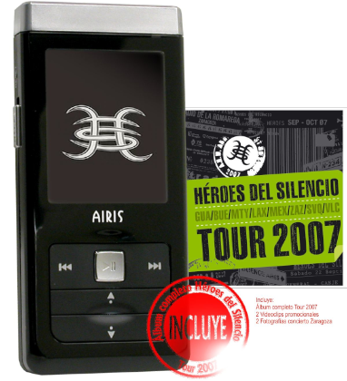 MP4 Airis MP102H sale a la venta con el disco de Heroes del Silencio