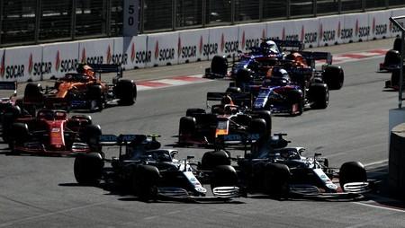 Hamilton Bottas Baku Formula 1 2019