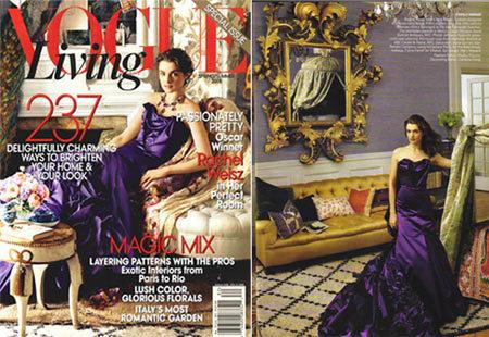 Rachel Weisz en Vogue Living