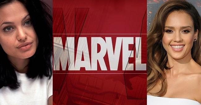 Angelina Jolie, Marvel y Jessica Alba