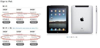 Apple podría haber vendido todas las primeras unidades del iPad en España