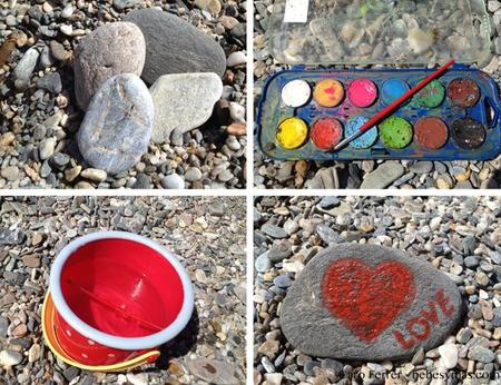 Manualidades de verano pintar piedras en playas de rocas for Donde conseguir piedras para pintar