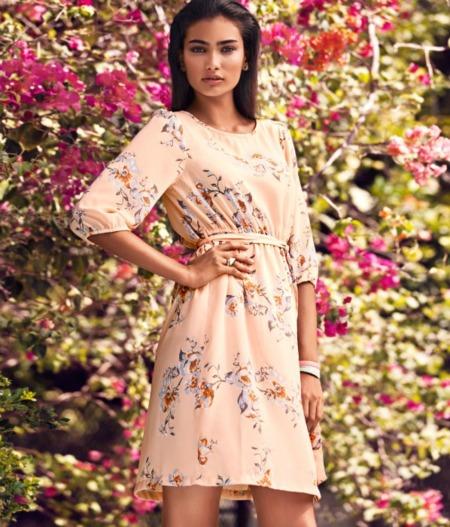 vestido H&M flores