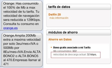 Internet móvil Orange hasta 32 Kbps