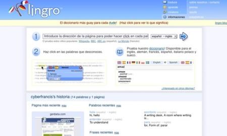 Lingro, diccionario de idiomas colaborativo