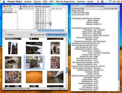 Phoenix Slides, sencillo visor de imágenes para OS X